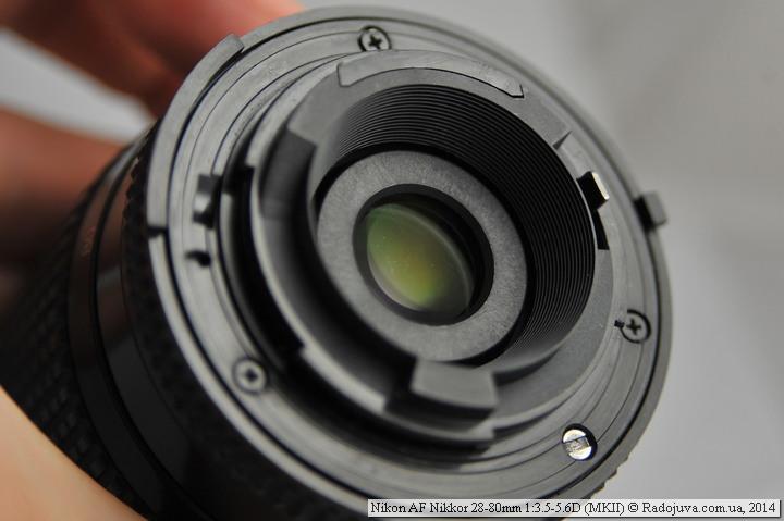 Просветление задней линзы Nikon AF Nikkor 28-80mm 1:3.5-5.6D