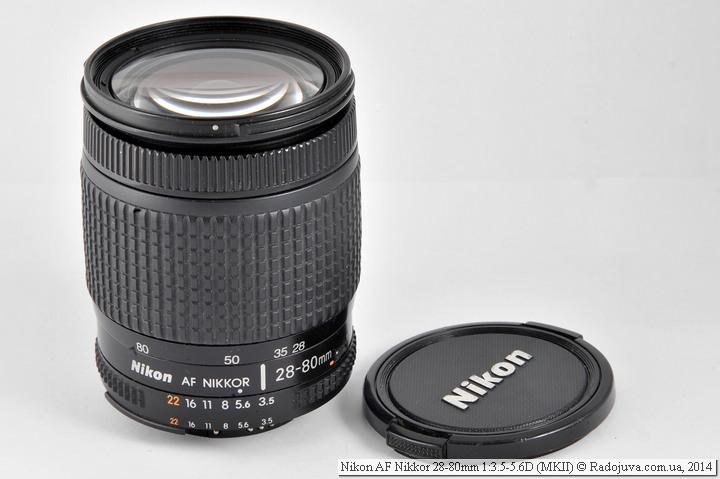 Nikon AF Nikkor 28-80mm 1:3.5-5.6D с оригинальной крышкой старого образца