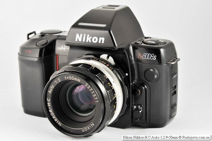 Вид Nikon Nikkor-H C Auto 1:2 f=50mm на ЗК