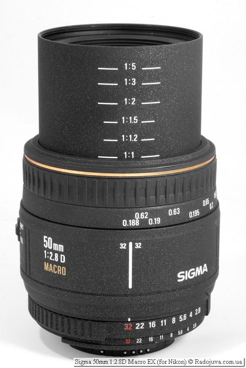 Sigma 50mm 1:2.8D Macro EX