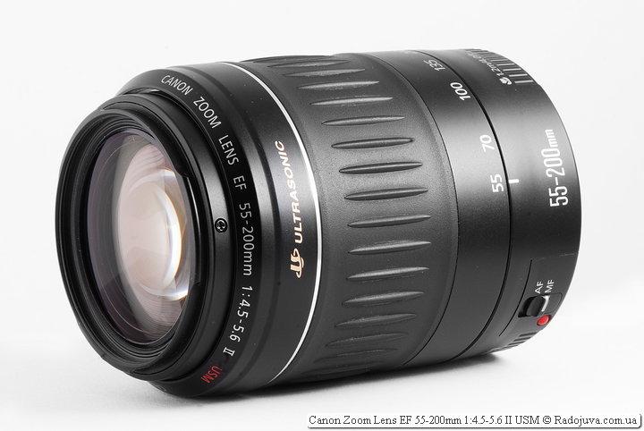 Обзор Canon Zoom Lens EF 55-200mm 1:4.5-5.6 II USM