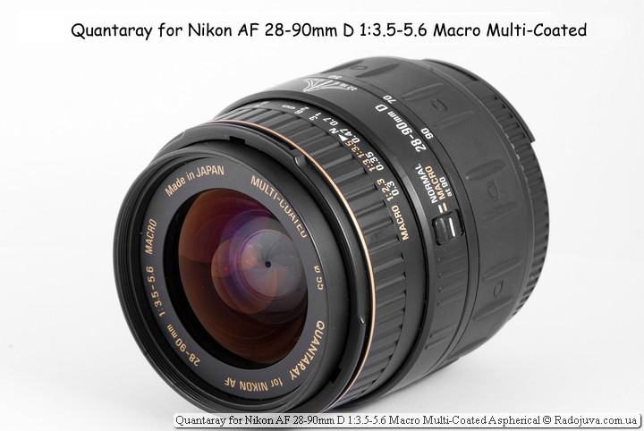 Обзор Quantaray for Nikon AF 28-90mm D 1:3.5-5.6 Macro Multi-Coated Aspherical