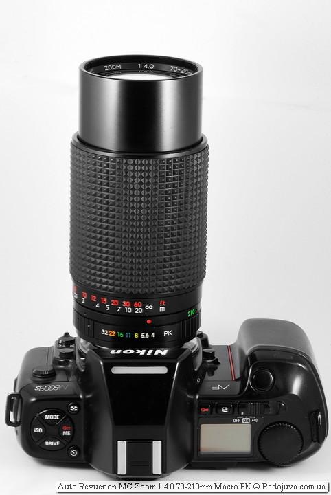 Auto Revuenon MC Zoom 1: 4.0 70-210mm Macro PK