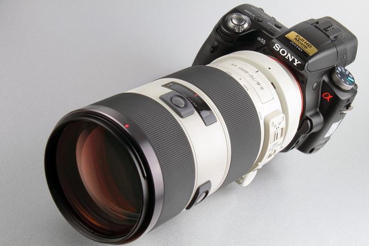 Sony Alpha SLT A55 с серьезным объективом
