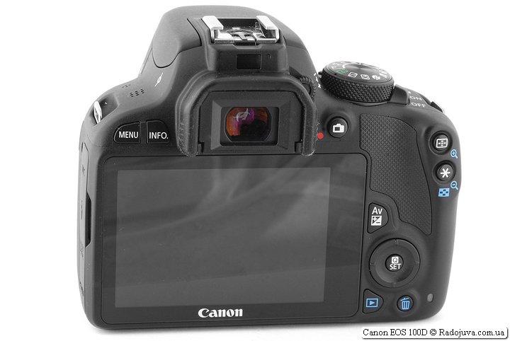 Canon EOS 100D, вид сзади