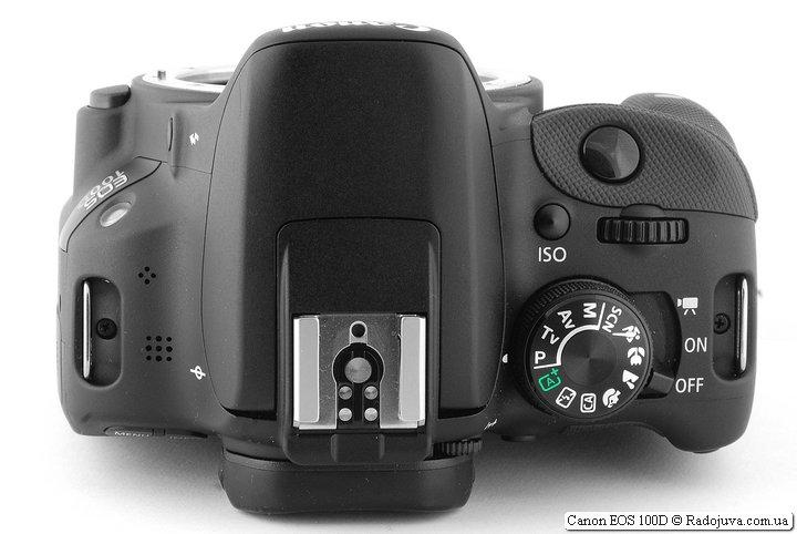Canon EOS 100D, вид сверху