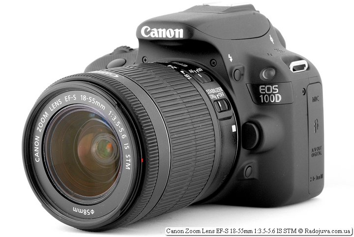 Canon EF-S 18-55 3.5-5.6 IS STM на Canon 100D