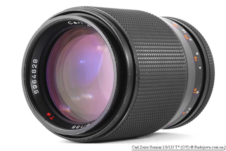Review Carl Zeiss Sonnar 2.8 / 135 T * (C / Y)