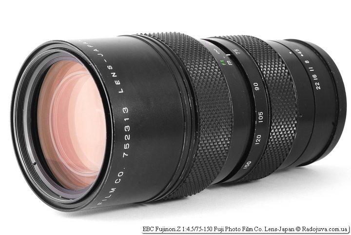 Обзор EBC Fujinon.Z 1:4.5/75-150 Fuji Photo Film Co. Lens-Japan