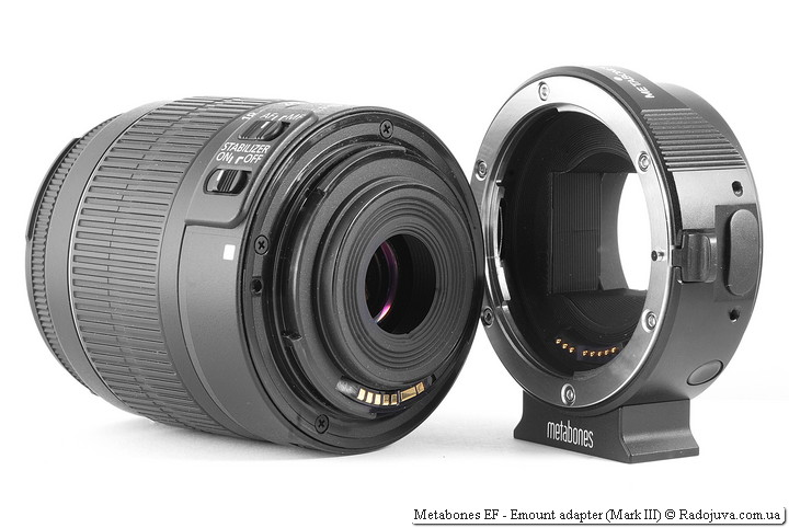 Metabones EF-E mount adapter (Mark III)