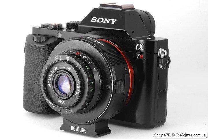 Sony a7R с объективом Industar-50-2 3.5/50