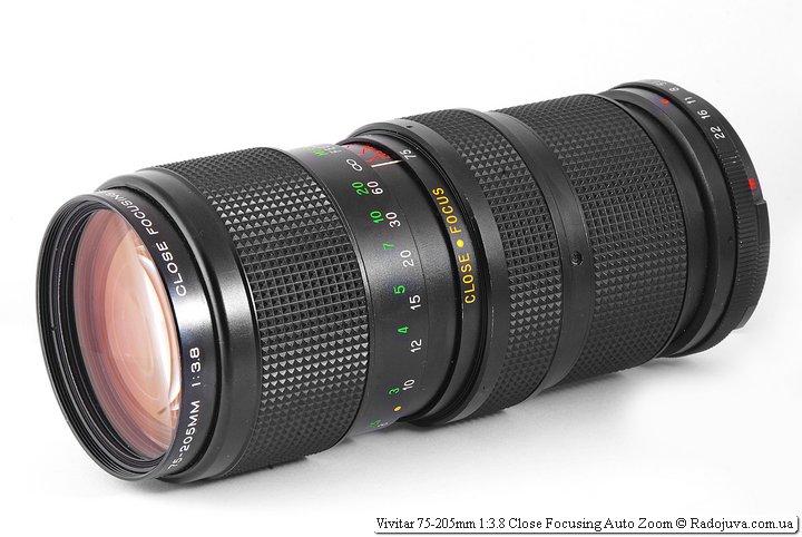 Обзор Vivitar 75-205mm 1:3.8 Close Focusing Auto Zoom