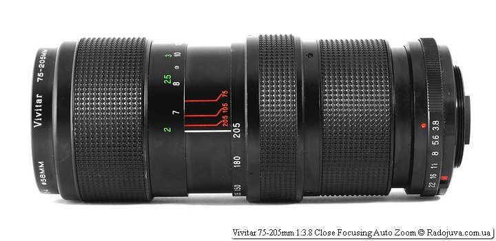 Vivitar 75-205mm 1:3.8 Close Focusing Auto Zoom
