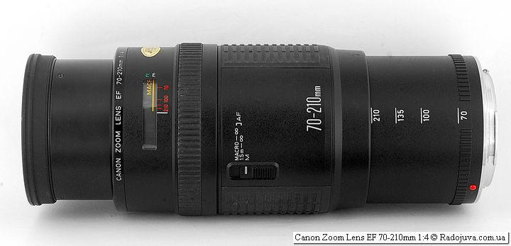 Canon Zoom Lens EF 70-210mm 1:4, 210 мм, фокусировка на МДФ