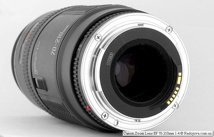 Вид anon Zoom Lens EF 70-210mm 1:4 со стороны байонета