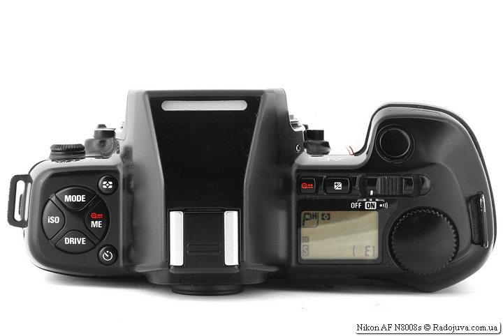 Nikon AF N8008s, вид сверху