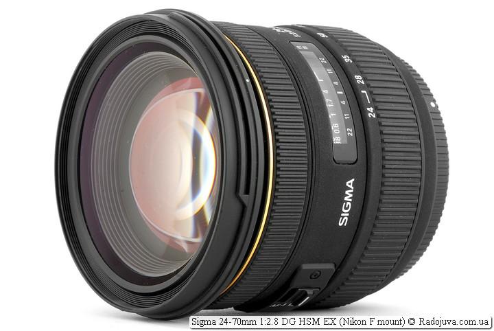Обзор Sigma 24-70mm 1:2.8 EX DG HSM