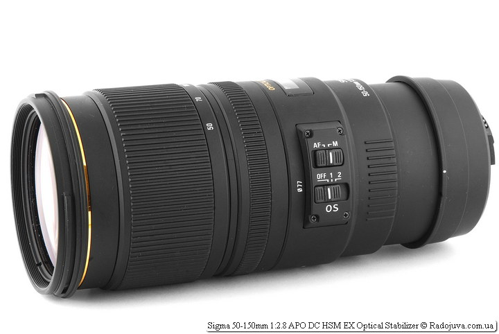 Sigma 50-150mm 1:2.8 APO DC HSM EX Optical Stabilizer
