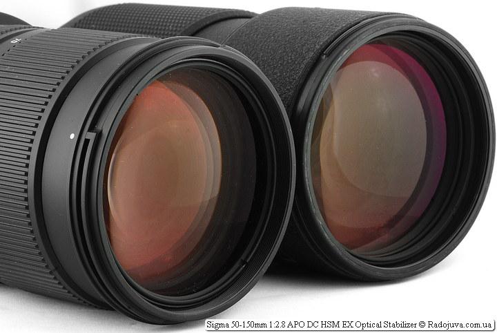 Просветление передних линз объектива Sigma AF 50-150 mm F 2.8 EX DC OS HSM и Nikon ED AF Nikkor 80-200mm 1:2.8D (MKII)