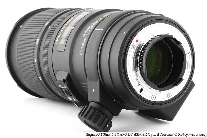 Sigma AF 50-150 mm F 2.8 EX DC OS HSM, вид сзади
