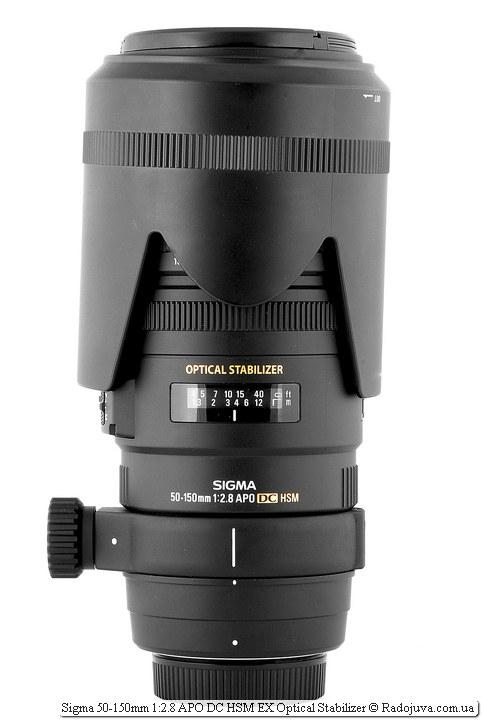 Sigma AF 50-150 mm F 2.8 EX DC OS HSM с блендой LH850-02 589