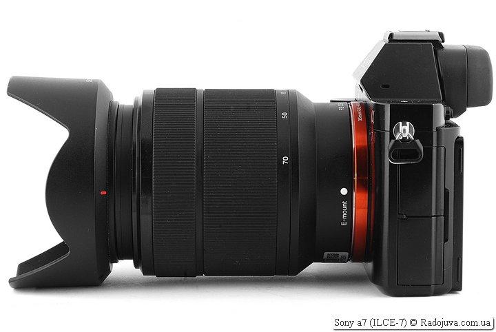 Sony a7 с объективом Sony FE 3.5-5.6/28-70 OSS SEL2870