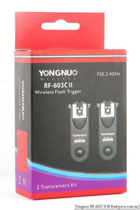 Packing Yongnuo RF-603C II