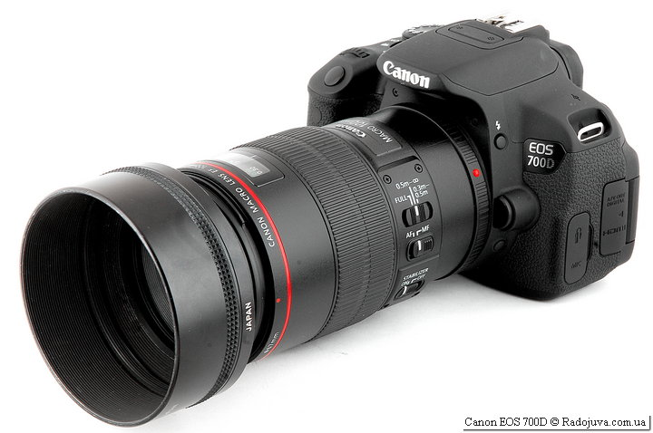 Canon EOS 700D с объективом Canon Macro Lens EF 100mm 1:2.8 L IS USM