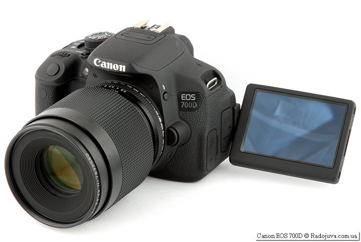 Canon EOS 700D с объективом  Carl Zeiss Makro-Planar 1:2,8 f=100mm T*