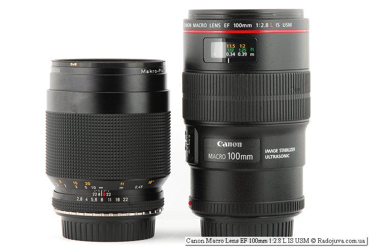 Carl Zeiss Makro-Planar 1:2,8 f=100mm T* и Canon Macro Lens EF 100mm 1:2.8 L IS USM