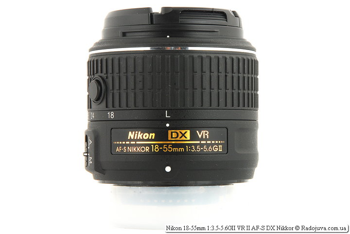 Nikon 18-55mm 1: 3.5-5.6GII VR II AF-S DX Nikkor with front and rear cover