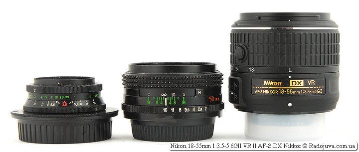 Все познается в сравнении. Nikon 18-55mm 1:3.5-5.6GII VR II AF-S DX Nikkor не такой уж и маленький