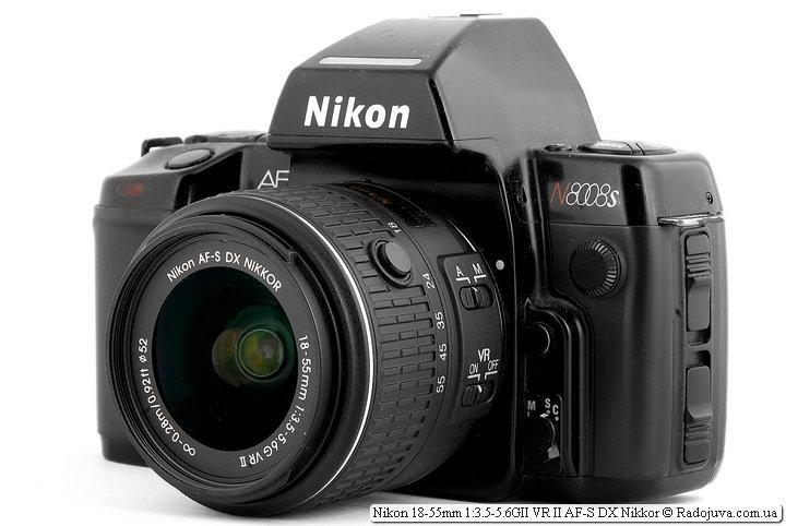 Nikon 18-55mm 1: 3.5-5.6GII VR II AF-S DX Nikkor view on the ZK