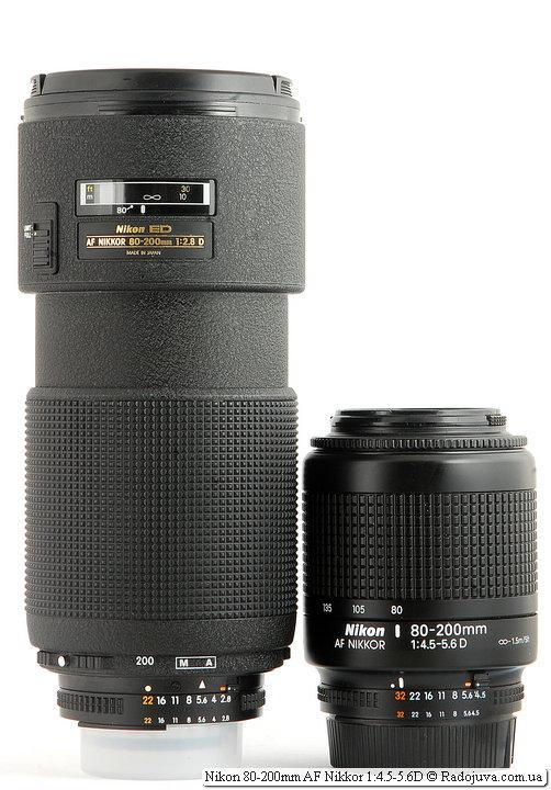 Nikon ED AF Nikkor 80-200mm 1:2.8D (MKII) и Nikon 80-200mm AF Nikkor 1:4.5-5.6D
