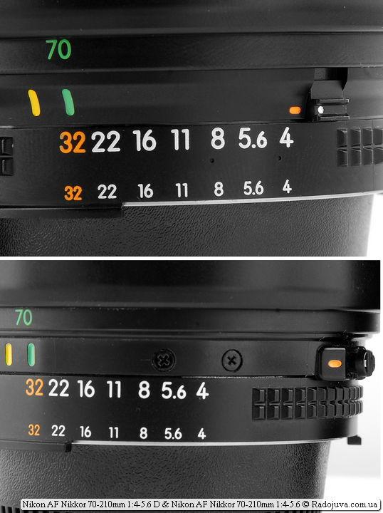 Различия моделей Обзор Nikon AF Nikkor 70-210mm 1:4-5.6D и Обзор Nikon AF Nikkor 70-210mm 1:4-5.6