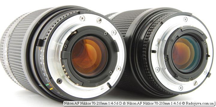 Различия в просветлении между Nikon AF Nikkor 70-210mm 1:4-5.6D и Обзор Nikon AF Nikkor 70-210mm 1:4-5.6