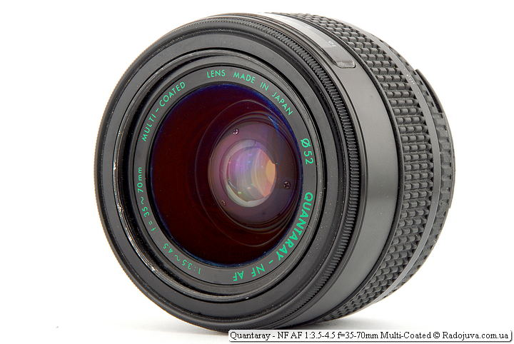 Обзор Quantaray - NF AF 1:3.5-4.5 f=35-70mm Multi-Coated