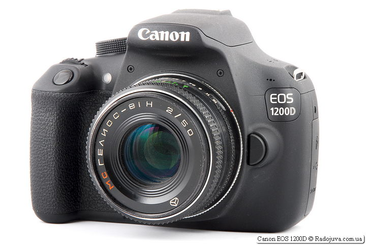 Canon EOS 1200D with Helios-81H 2/50 MS lens