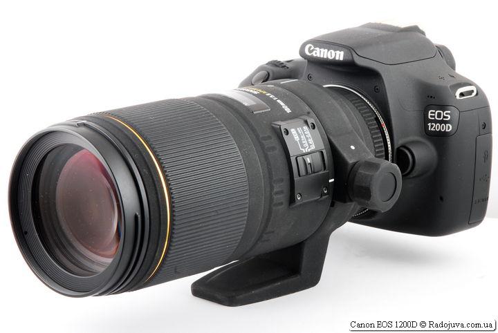 Canon 1200D с объективом Sigma 180mm 1:3.5 APO Macro DG HSM D EX