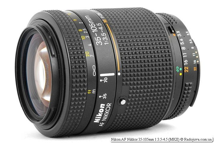 Обзор Nikon AF Nikkor 35-105mm 1:3.5-4.5 (MKII)