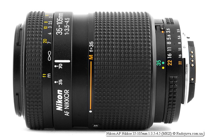 Nikon AF Nikkor 35-105mm 1:3.5-4.5 (MKII) в режиме Macro
