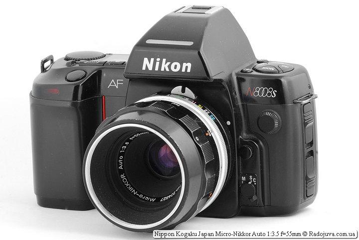 Nippon Kogaku Japan Micro-Nikkor Auto 1:3.5 f=55mm на ЗК