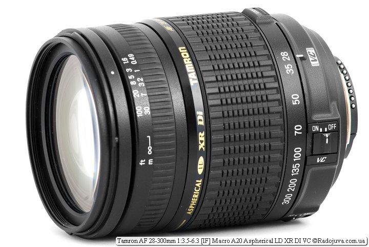 Обзор Tamron AF 28-300mm 1:3.5-6.3 [IF] Macro A20 Aspherical LD XR DI VC