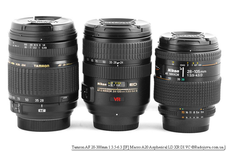 Tamron AF 28-300mm 1:3.5-6.3 [IF] Macro A20 Aspherical LD XR DI VC на ЗК Nikon N8008S и Nikon ED AF-S Nikkor 24-120mm 1:3.5-5.6G SWM VR IF Aspherical и Nikon AF Nikkor 28-105mm 1:3.5-4.5D