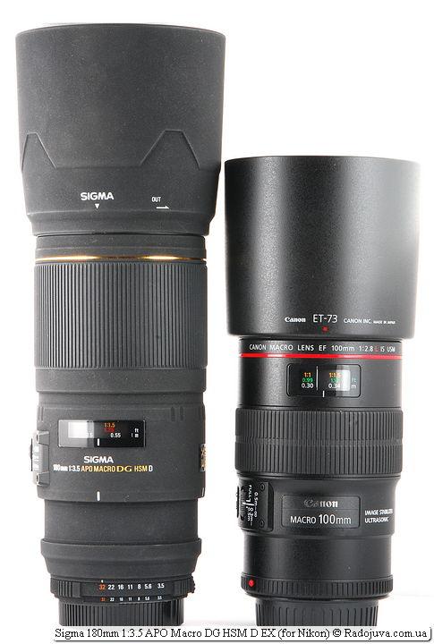 Sigma 180mm 1:3.5 APO Macro DG HSM D EX и Canon Macro Lens EF 100mm 1:2.8 L IS USM