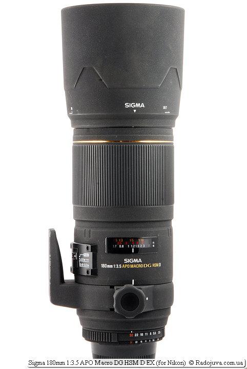 Sigma 180mm 1:3.5 APO Macro DG HSM D EX с блендой LH780-02