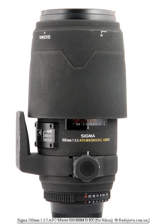 Sigma 180mm 1:3.5 APO Macro DG HSM D EX с блендой