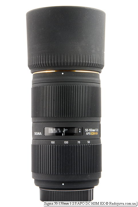 Sigma 50-150mm 1:2.8 APO DC HSM EX с блендой