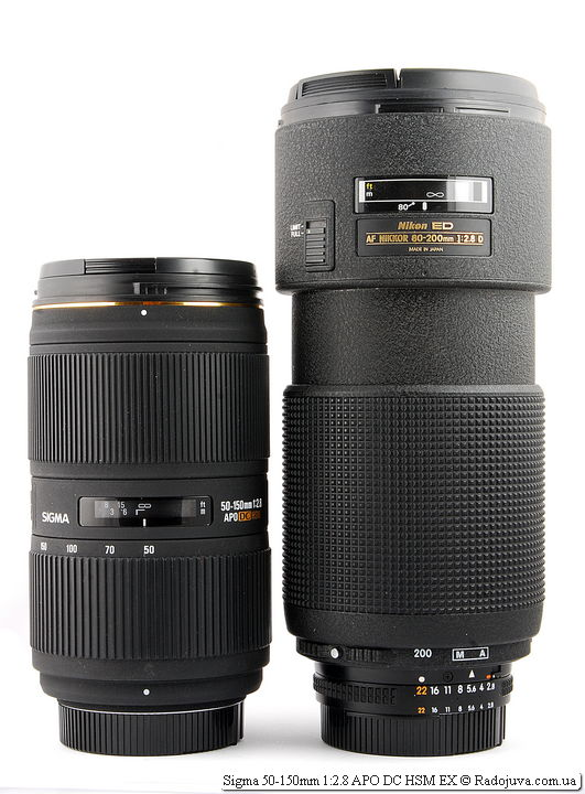 Sigma 50-150mm 1:2.8 APO DC HSM EX и Nikon ED AF Nikkor 80-200mm 1:2.8D (MKII)
