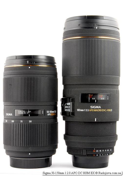 Sigma 50-150mm 1:2.8 APO DC HSM EX и Sigma 180mm 1:3.5 APO Macro DG HSM D EX